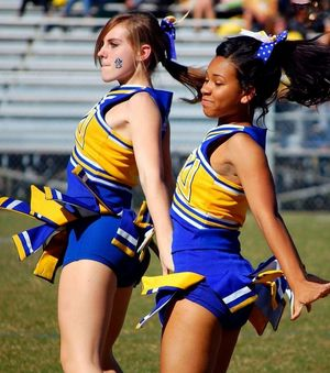 cheerleader upskirts video
